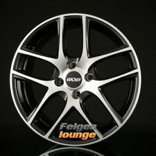 4 CERCHI IN LEGA OXXO Vapor (rg12) - Polished Black Polished 7x17 et25 4x108 ml65, 1 N