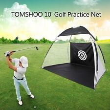 10' Golf Practice Driving Hit Net Cage Training Tent Aid Driver Irons w/Free T0