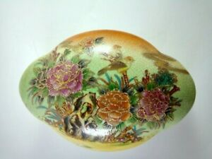 Vintage & Antique Stsuma Porcelain Jewellery Chinese Box Decorative Hand Painted