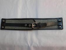 NWT Style & Company Stretch Belt Black & White Geometric Print Size Lg-XL