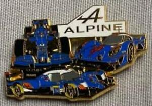PINS PIN´S VOITURE  ALPINE RENAULT , DORE 6 cm