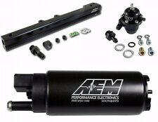 AEM Fuel Pressure Regulator+Fuel Rail+320lph Fuel Pump B-Series B16 B18C GSR SI
