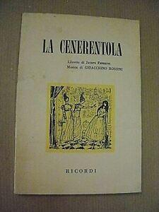 Gioacchino Rossini, Ferretti LA CENERENTOLA / Libretto d'opera Ricordi 1970
