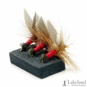 3, 6 or 12x Red Ant Dry Trout Flies for Fly Fishing