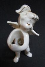 Vintage 1970s Christmas Angel Figurine Candle Holder. Angel, Child, Goat, Stars,