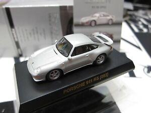 Kyosho - Porsche MiniCar Collection 4 - 911 RS 993 Silver Scale 1/64 Mini Car A9