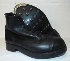 BLACK LEATHER AMMO AMMUNITION DRESS BOOTS - Size: 7 Medium , British Military
