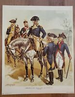 Commander in Chief Aide de Camp Line Officers 1779-1783 by H.A. Ogden Penn Print