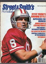 1993 STREET AND SMITH'S PRO FOOTBALL YEARBOOK MAGAZINE-STEVE YOUNG-SAN FRANCISCO