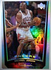 09e07de83e3fbd MICHAEL JORDAN 1998 UPPER DECK ENCORE  109 HOLOFOIL REFRACTOR LIKE CARD  BULLS MJ