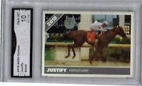 2018 Justify Horse Racing Kentucky Derby Race Horse Rookie Gem Mint 10