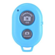 New Bluetooth Selfie Stick Remote Shutter Button iPhone Samsung IOS Android Blue