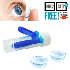 Contact Lens Inserter Remover Soft Tip Tweezers Applicator Case Kit Hygienic UK