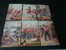 Superb Set of 6 Artist Drawn Battle Scenes vintage postcards, A.C.Lovett