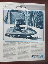 1974 Raider Twin Track Double Eagle 440 Snowmobile Sales Brochure