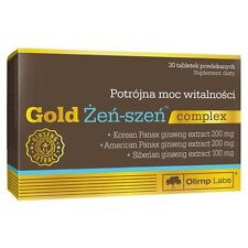 GOLD Żeń-szeń 30 tabl. Helps fight fatigue, supports physical and mental fitness