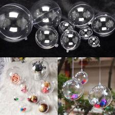 15x Plastique Transparent Bonbonniere Dragées Arbre De Noël Marriage Boule Décor