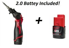 Milwaukee 2488-20 M12 Cordless Solder Soldering Iron Bare Tool With 2.0 Battery!