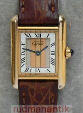 Cartier Tank cuarzo vermeil reloj de pulsera plata 925 original Cartier pulsera