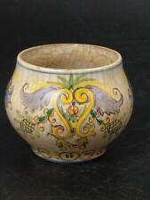 Portuguese Hand Painted Pottery Vase Carvalhinho Porto