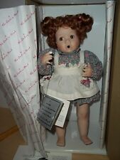 Danbury Mint Betsy Porcelain Doll 1992 With Cupcake by Artist Elaine Campbell