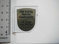 Aufkleber Sticker Garten 10 Tage Probe (7688)