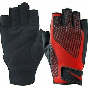 New! Nike Men's Small Core Lock Training Gloves 2.0! Red Weight Lifting Gloves