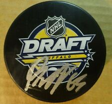 Autographed JESPER BRATT Signed 2016 NHL Draft Hockey Puck New Jersey Devils