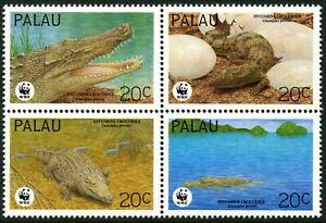 PALAU - 1994 WWF 'ESTUARINE CROCODILE' Block of 4 MNH [B2442]