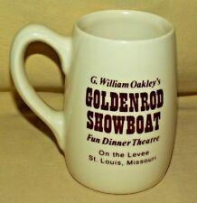 GOLDENROD SHOWBOAT MUG G WILLIAM OAKLEY FUN DINNER THEATRE LEVEE ST LOUIS MO.