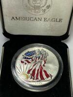 Walking Liberty American Eagle Silver Dollar 1999 1oz 999  Colored w/ Box