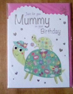 just for you mummy on your birthday card by noel tatt 16,5cm x 12.5cm