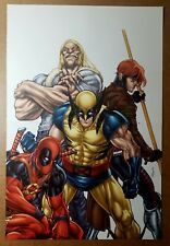 Wolverine Weapon X Gambit Deadpool Sabretooth Marvel Comic Poster Michael Ryan