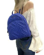 MICHAEL KORS ABBEY MEDIUM BACKPACK QUILTED LEATHER COBALT