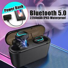 Bluetooth 5.0 гарнитура беспроводные наушники TWS близнецы наушники 5D стерео наушники