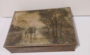 Antique Victorian Nabisco Uneeda Tin Cracker Box