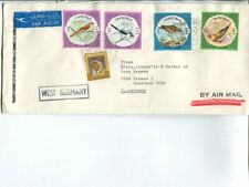 Kuwait special cancel long air mail cover to Germany 10.2.1974