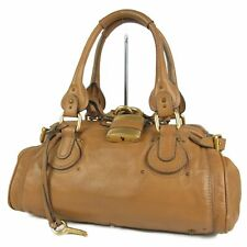 Auth Chloe Paddington Logos Leather Hand Bag Italy F/S 10586bkac