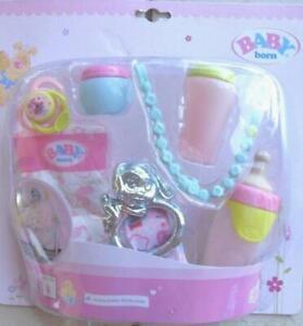 Orig. Zapf >>> Baby Born Accessoires-Set <<< Flasche, Schnuller, etc