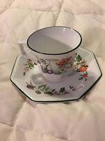VINTAGE ENGLAND JOHNSON BROS FINE CHINA FRUIT TEA CUP & SAUCER PLATE SET