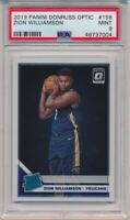 2019 Panini Donruss Optic Zion Williamson Rookie Card #158 PSA 9 Mint #7004