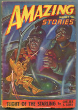 Amazing Stories January 1948 Science Fiction Pulp Magazine