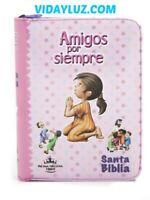 Biblia Amigos por Siempre Rosa Acolchonada con Cierre RVR 1960