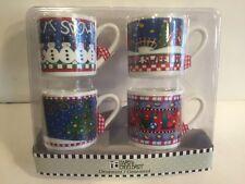 Mary Engelbreit Christmas Ornaments - 4 Mugs/Cups Mib