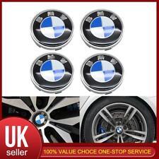 4pc Azul Blanco Cubo de rueda delantera trasera con el logotipo de Centro Tapa BMW 60mm Para BMW E12 E9 E3