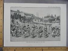 Rare Antique Original VTG Zuni Deer Dance Of Hopis Illustration Art Print