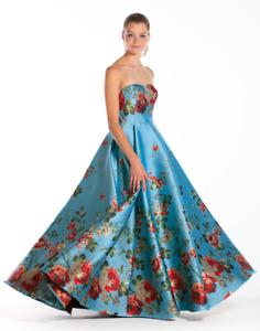 Mestiza New York Celestina Floral Print Strapless Gown Size 2 MSRP: $995.00