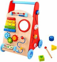 Tooky Wooden Toys Baby Activity Walker Push Along Learning Toy Playset