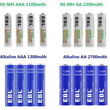 Lot EBL AA AAA Rechargeable NI-MH / Non-Rechargeable Alkaline Battery for Torch