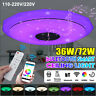 72W LED bluetooth Music Speaker Ceiling Light RGB Dimmable Lamp AP